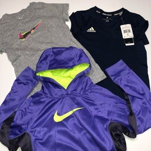Adidas & Nike Girls Athletic Tops Bundle Size L